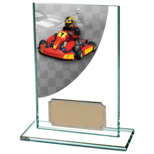 Colour Curve Go-Kart Jade Glass Award 125mm